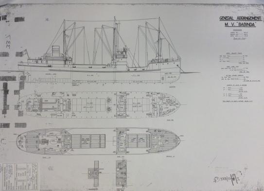MV 'Babinda' General Arrangement drawings (University of Glasgow archives)