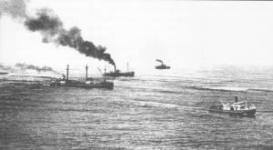MV 'Babinda' off the mouth of the Clarence River (Port of Yamba Historical Society)