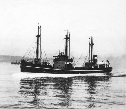 MV 'Babinda' on sea trials
