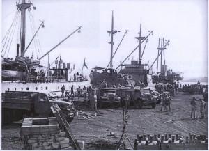 'Babinda' in Milne Bay with Burns Philp's MV 'Muliama' (Australian Merchant Navy)