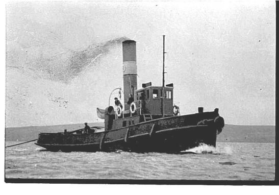 1. BUSTLER,[1917-c. 1965] Daley tug. c.1920s.