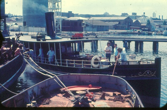 10. LADY HOPETOUN at Blackwattle Bay base, 1974. GKA.