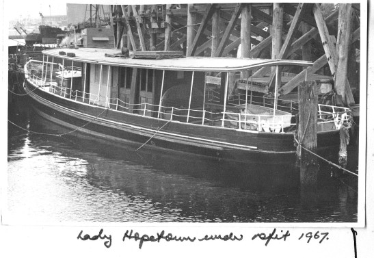 9. LADY HOPETOUN refit Blackwattle Bay, 1967.GKA.